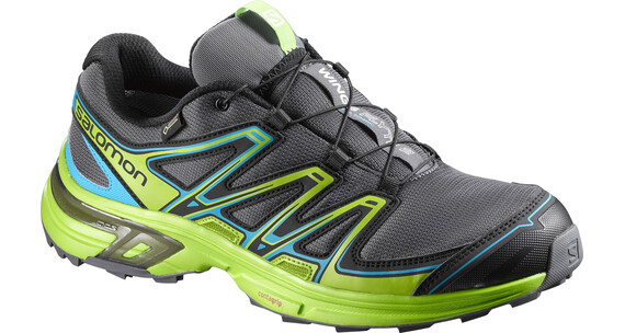 Salomon Wings Flyte 2 GTX Trailrunning Shoes Men dark cloud/granny green/scuba blue